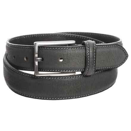 James Campbell Single Keeper Jeans Belt - Leather (For Men) in Black - Closeouts