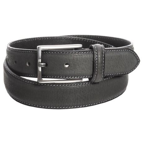 James Campbell Single Keeper Jeans Belt - Leather (For Men) in Black