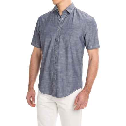 James Campbell Standish Shirt - Cotton, Short Sleeve (For Men) in Denim - Closeouts