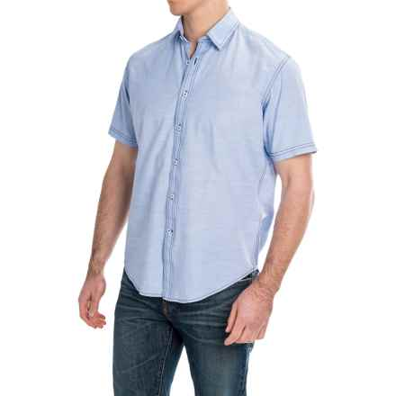 James Campbell Standish Shirt - Cotton, Short Sleeve (For Men) in Sky - Closeouts