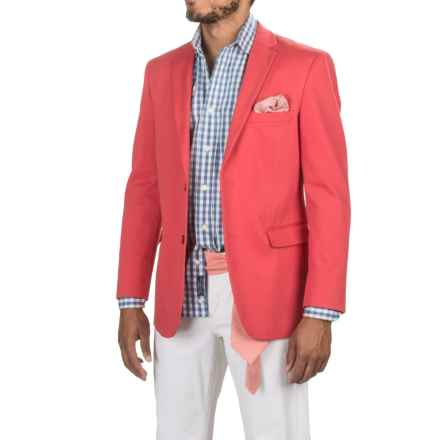 James Campbell Twill Sport Coat (For Men) in Red - Closeouts