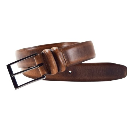 James Campbell Vintage Leather Belt (For Men) in Brown