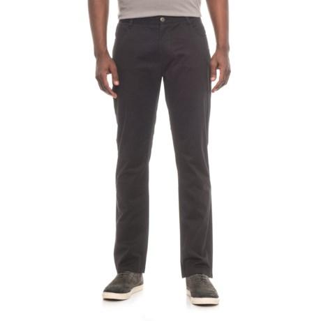 James Campbell Washed Twill Pants - 5-Pocket (For Men) in Black