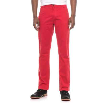 James Campbell Washed Twill Pants - 5-Pocket (For Men) in Red - Closeouts