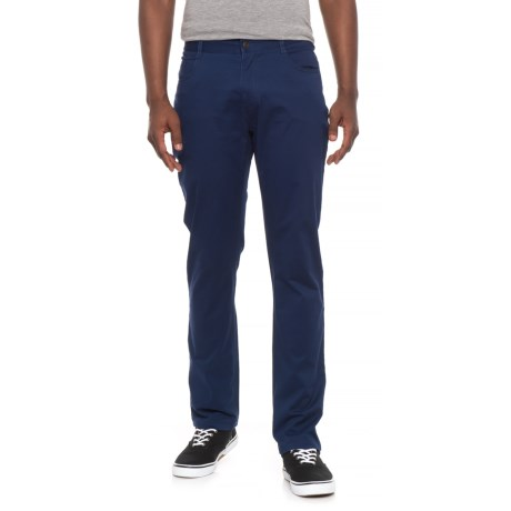 James Campbell Washed Twill Pants (For Men) in Blue