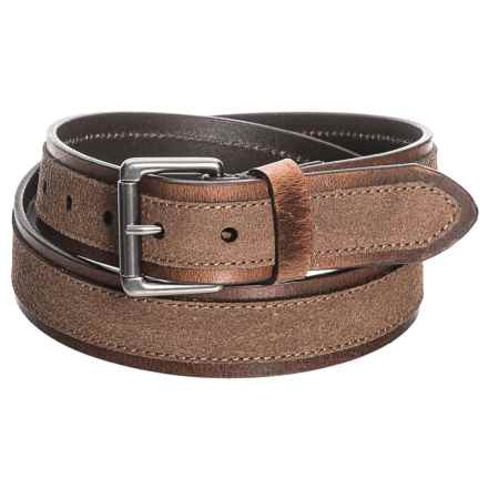 James Campbell Wrapped Edge Belt - Leather (For Men) in Brown - Closeouts