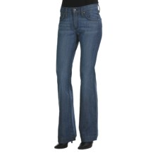 James Jeans Humphrey Flare Denim Jeans (For Women) in Light Med Wash - Closeouts