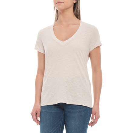ec0139ec James Perse Relaxed Casual V-Neck Shirt - Short Sleeve (For Women) in