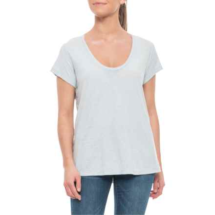 James Perse Round Neck Slub T-Shirt - Short Sleeve (For Women) in Lucite