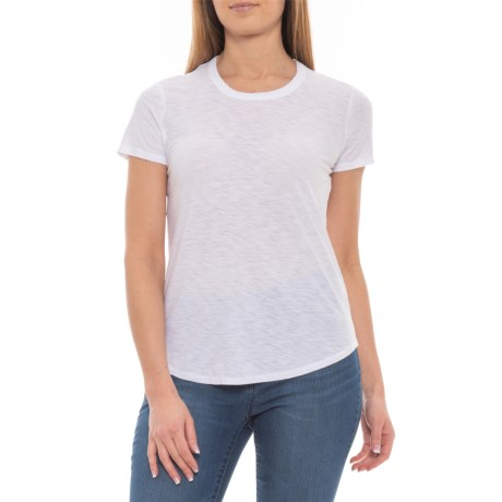 3fbe23d8562 James Perse White Crew T-Shirt - Short Sleeve (For Women) in White