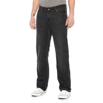 7867a8edb6 James Tattersall Modern Fit Stretch Denim Jeans (For Men) in Charcoal -  Overstock