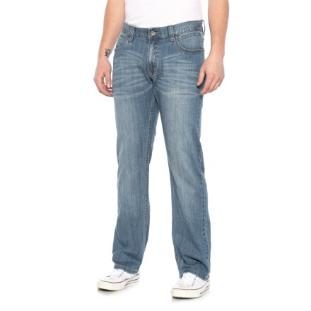 a5fe7640 James Tattersall Modern Fit Stretch Five-Pocket Denim Jeans (For Men) in  Blue
