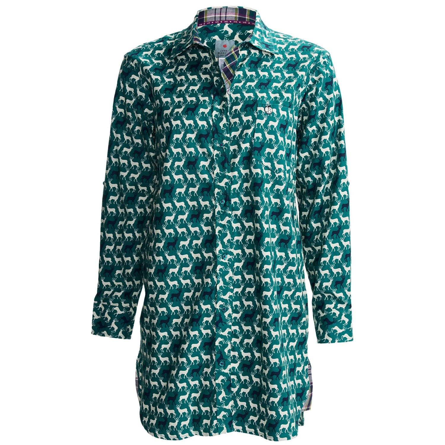 Jane and bleecker lightweight flannel nightshirt for for Womens flannel night shirts