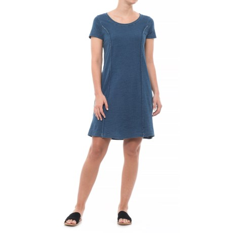 Jane and Delancey Fitted T-Shirt Dress - Short Sleeve (For Women) in Middle Bleach