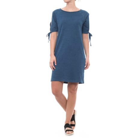 Jane and Delancey Solid Dress - Short Sleeve (For Women) in Middle Bleach