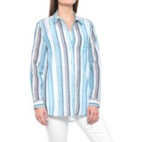 Jane and Delancey Striped Button-Up Shirt - Long Sleeve (For Women)