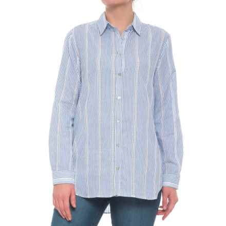 Jane and Delancey Thin-Striped Shirt - Long Sleeve (For Women) in Blue Multi - Closeouts