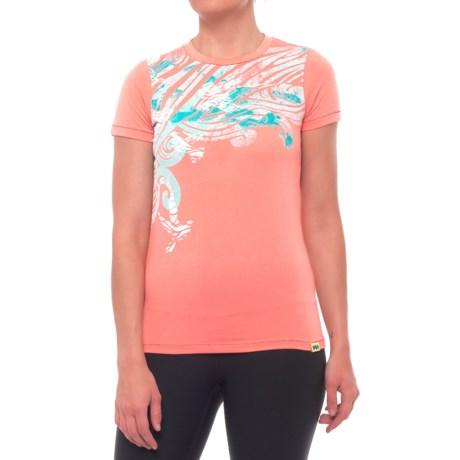 Janji Haiti Dove T-Shirt - Short Sleeve (For Women) in Orange