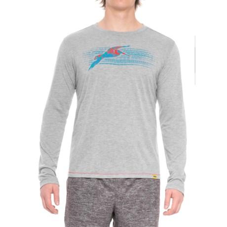 Janji Haiti Pelican Shirt - Long Sleeve (For Men) in Light Grey