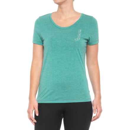 Janji Lara Jay T-Shirt - Short Sleeve (For Women) in Turquoise - Closeouts