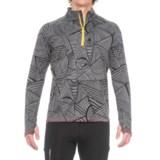 Janji Patterned Zip Neck Running Shirt - Long Sleeve (For Men)