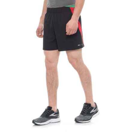 Janji Peru Middle Running Shorts (For Men) in Black - Closeouts