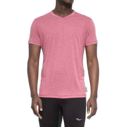 Janji Peru V-Neck T-Shirt -Short Sleeve (For Men) in Red - Closeouts
