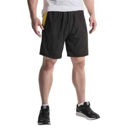 Janji Tanzania 2-in-1 Running Shorts (For Men) in Black/Yellow - Closeouts