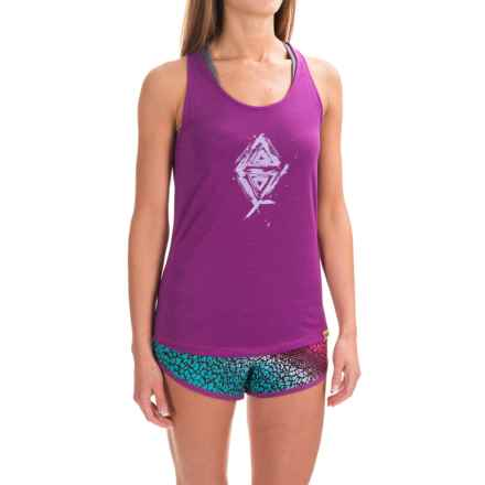 Janji Triangle Tank Top (For Women) in Purple/White - Closeouts