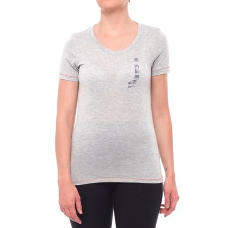 "Janji Varsity ""J"" T-Shirt - Short Sleeve (For Women) in Grey"