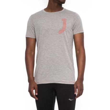 Janji Varsity J T-Shirt - Short Sleeve (For Men) in Grey