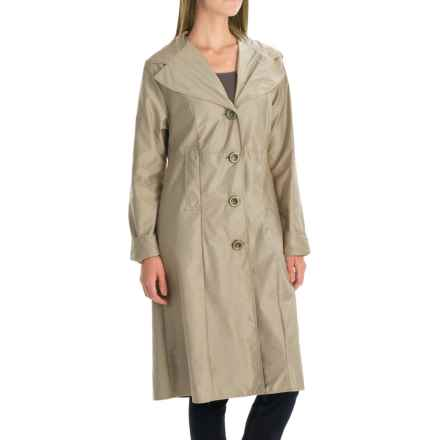 Janska Milano Packable Trench Coat (For Women) in Taupe - Closeouts