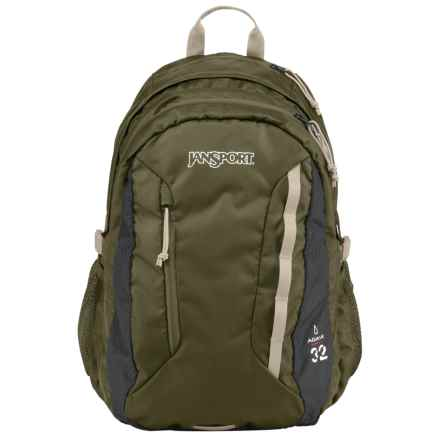 JanSport Agave Backpack in Green Machine/Grey Tar - Closeouts
