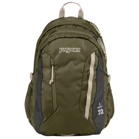 JanSport Agave Backpack in Green Machine/Grey Tar