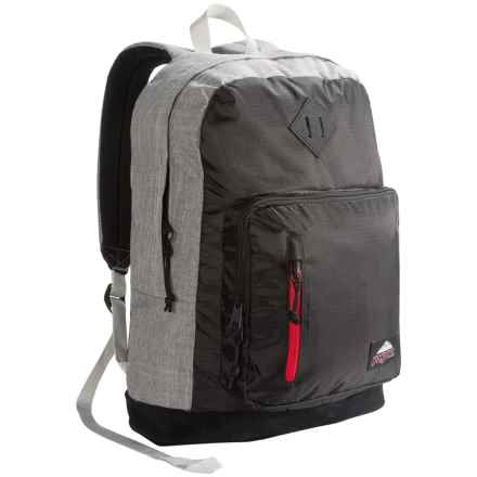 JanSport Axiom Backpack in Blackpolyripstop/Greymarl - Closeouts