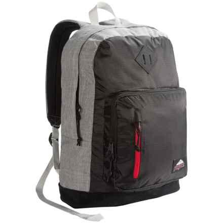 JanSport Axiom Backpack in Blackpolyripstop/Greymarl - Closeouts