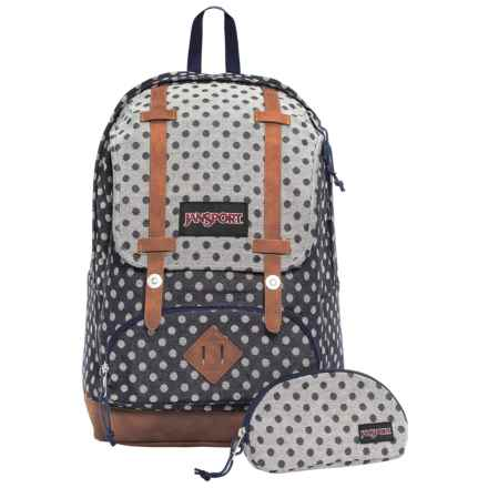 JanSport Baughman 25L Backpack in Navy Twiggy Dot Jacquard - Closeouts