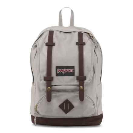 JanSport Baughman Backpack in Grey Rabbit/Brown - Closeouts