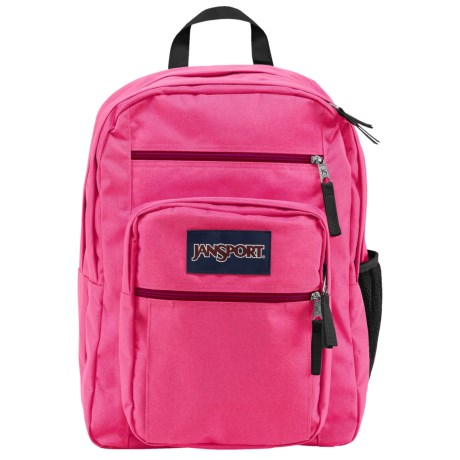 JanSport Big Student 34L Backpack in Fluorescent Pink