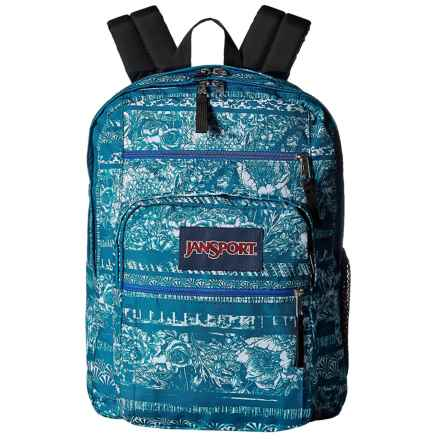 JanSport Big Student 34L Backpack in Midnight Sky Floral Stripe - Closeouts