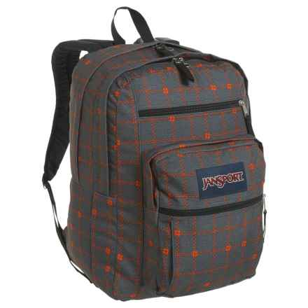 JanSport Big Student Backpack - 34L in Shady Grey Stitch Plaid - Closeouts