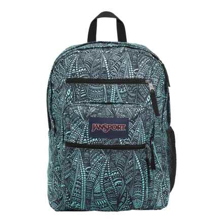 JanSport Big Student Backpack in Aqua Dash Scribbled Ink - Closeouts