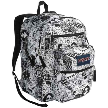 JanSport Big Student Backpack in Black/White Free Spirit - Closeouts