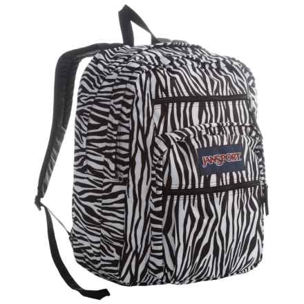 JanSport Big Student Backpack in Black/White Zebra Stripe - Closeouts