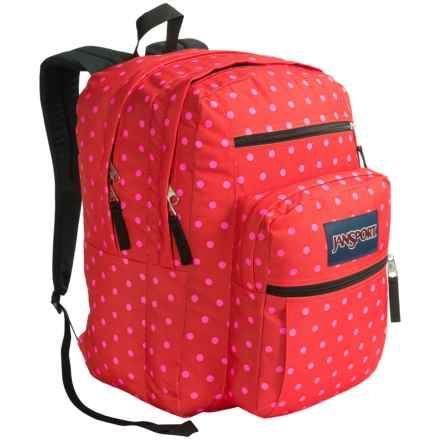 JanSport Big Student Backpack in Coral Dusk Dots - Closeouts
