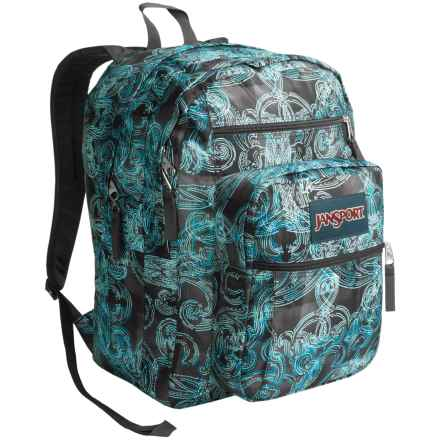 JanSport Big Student Backpack in Multi Ornate Blues - Closeouts