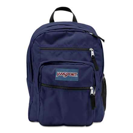 JanSport Big Student Backpack in Navy Moonshine - Closeouts