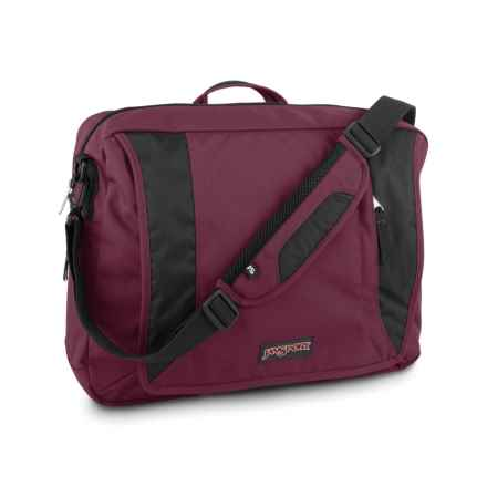 JanSport Century Brief III Messenger Bag in Merlot - Closeouts