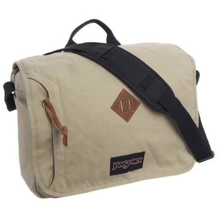 JanSport Crosstalk Messenger Bag in Desert Beige - Closeouts