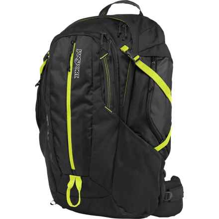 JanSport Equinox 40 Backpack in Black/Lime Punch - Closeouts